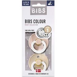 Čiulptukai BIBS COLOUR Blush Night / Vanilla Night 0-6 mėn. (2vnt.)