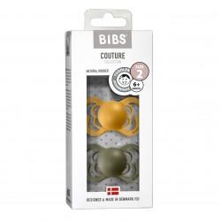 Čiulptukai BIBS COUTURE Honey Bee / Olive 6+ mėn. (2vnt.)