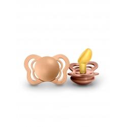 Čiulptukai BIBS COUTURE Peach / Woodchuck 0-6 mėn. (2vnt.)